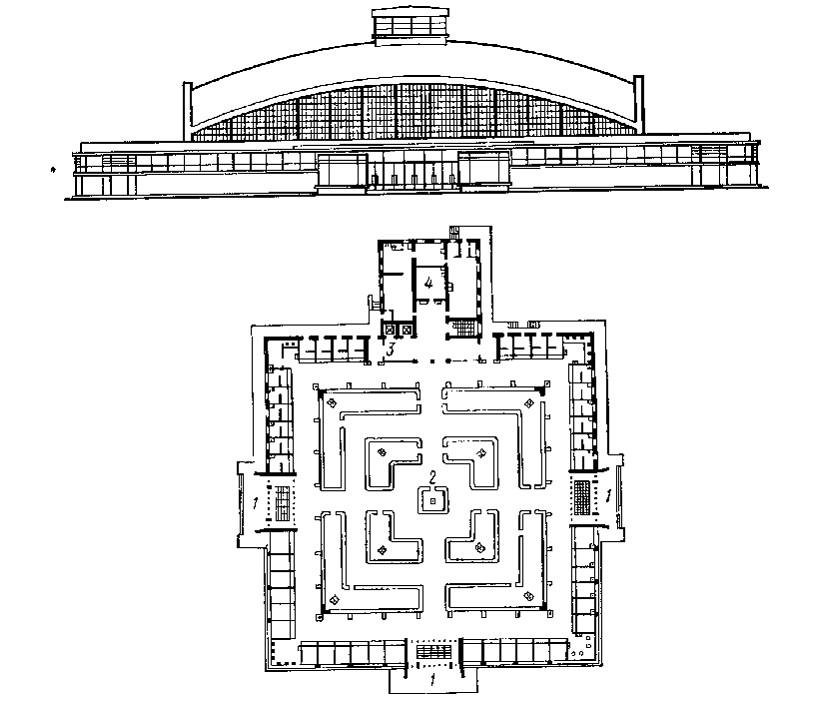 ячейковая схема здания.