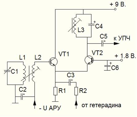Разработка схемы радиоприемника.