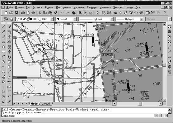 Геоинформационное обеспечение электронных планов горных работ