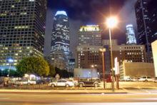 Центр города ночью