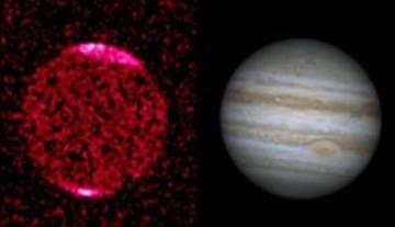 Большое рентгеновское пятно на Юпитере