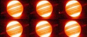Красные кольца вокруг Юпитера