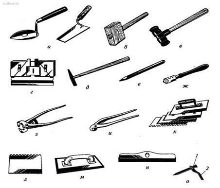 Инструменты для облицовочных работ