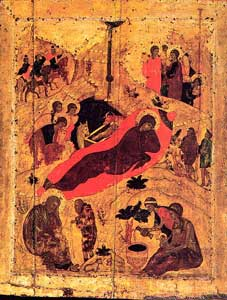 преп. Андрей Рублев. Икона Рождества Христова