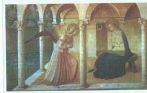 Фра Беата Анджелико. Благовещение. 1450. Флоренция. Монастырь Сан Марко