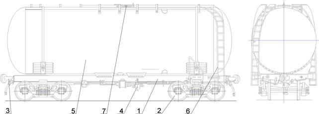 Рисунок 1 –Схема вагона