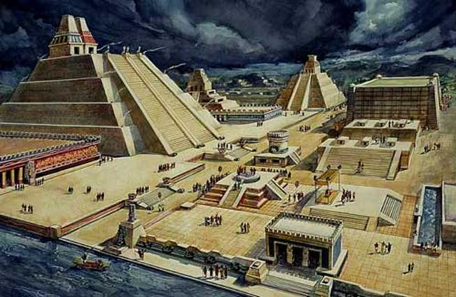 Главный храм Теночтитлана (реконструкция).