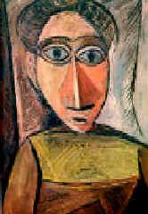 Пабло Пикассо. Женский портрет. 1907. Х., м.