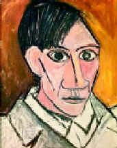 Пабло Пикассо. Автопортрет. 1907. Х., м.