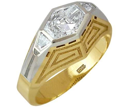 -= Алмаз-Холдинг =-, 1203430, Кольца, Золото 750° , Бриллиант - 3 шт.;