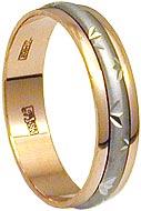 Обручальное кольцо с алмазной гравировкой